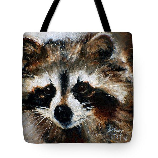 Rickey Raccoon Tote Bag