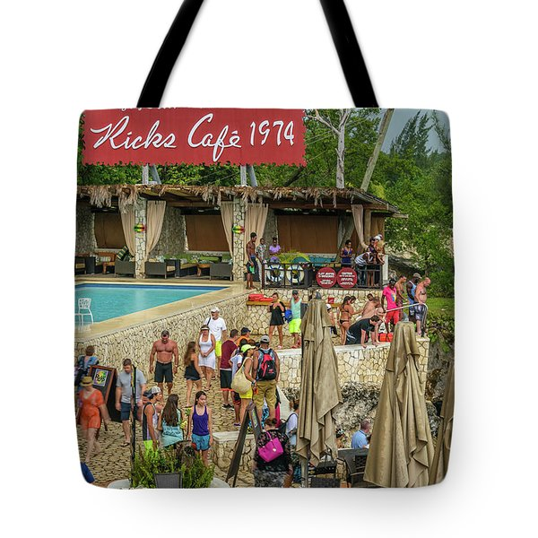 Rick's Cafe In Negril, Jamaica Tote Bag