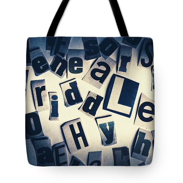 Riddles Of Contextual Scatter Tote Bag