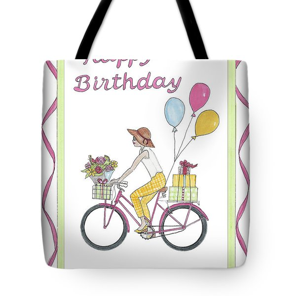 Ride In Style - Happy Birthday Tote Bag