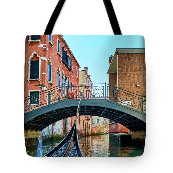 Ride On Venetian Roads Tote Bag