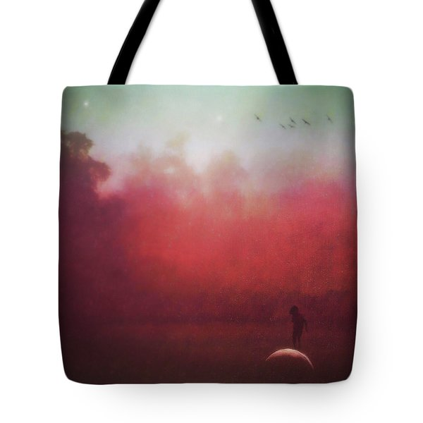 Ride The Moon Tote Bag