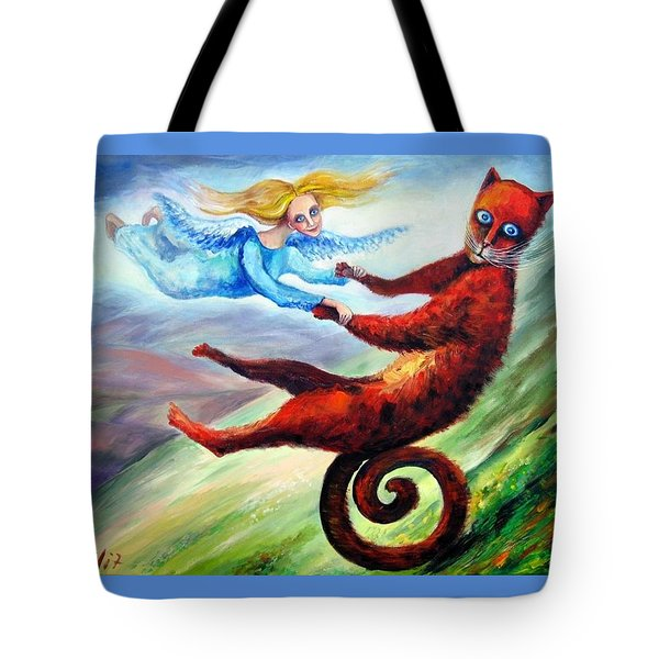 Ride The Tail Tote Bag by Elisheva Nesis
