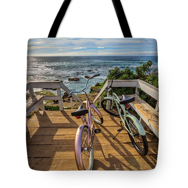 Ride With Me To The Beach Tote Bag by Peter Tellone