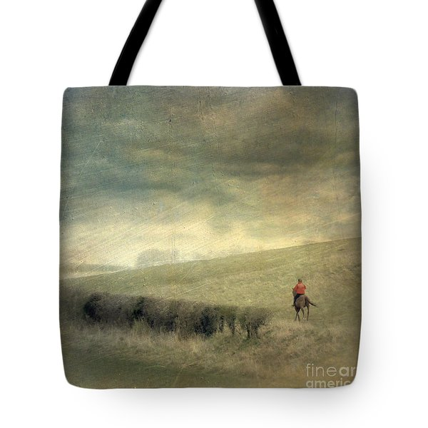Rider In The Storm Tote Bag