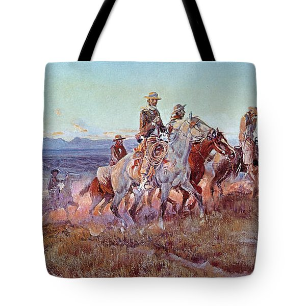 Riders Of The Open Range Tote Bag