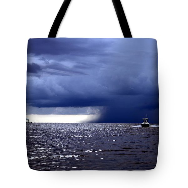 Riders On The Storm Tote Bag by Rdr Creative
