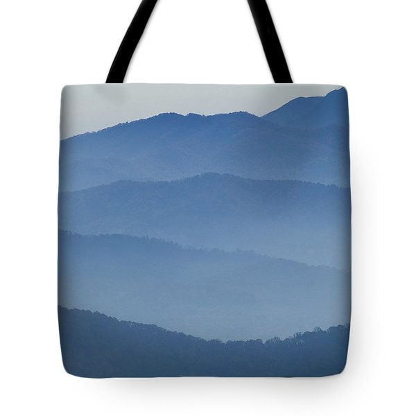 Ridgelines Great Smoky Mountains Tote Bag by Rich Franco