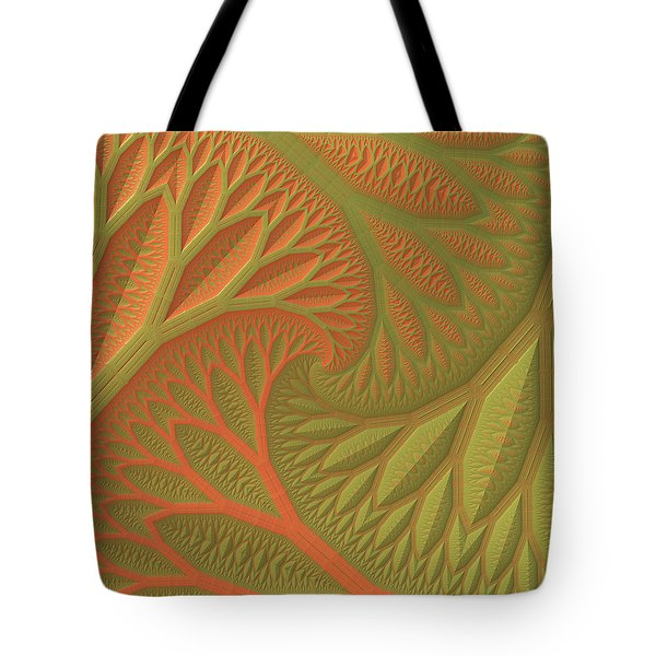 Tote Bag featuring the digital art Ridges And Valleys by Lyle Hatch