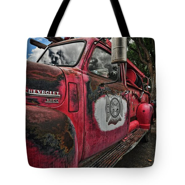 Ridgway Fire Truck Tote Bag