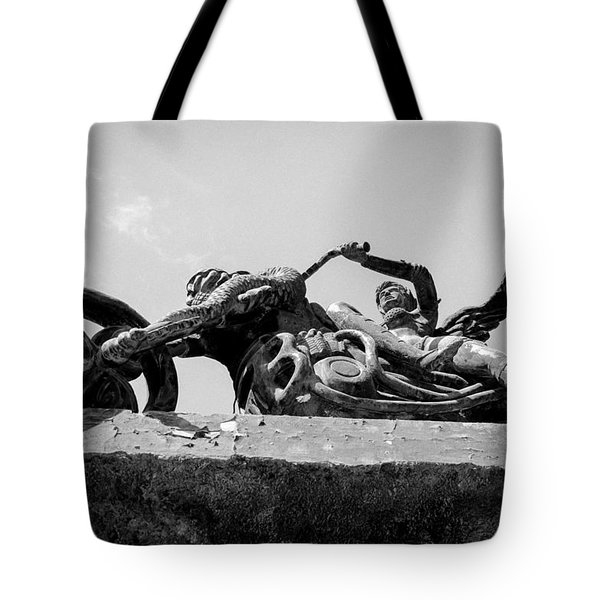 Tote Bag featuring the photograph Ridin Hugh by Jez C Self