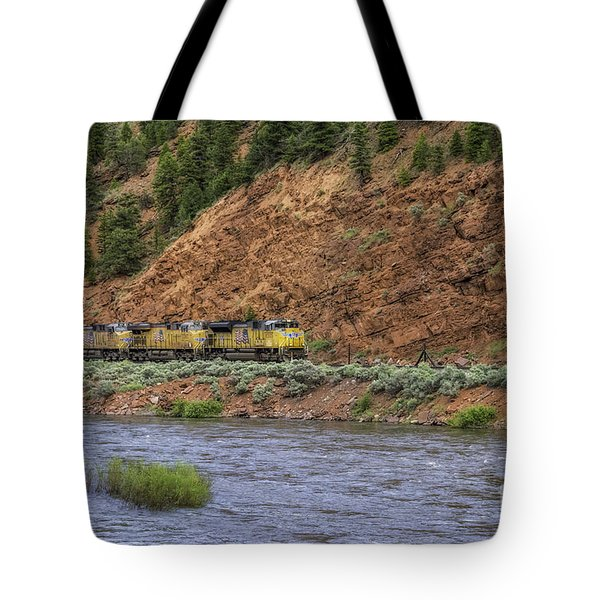 Ridin' The Rails Tote Bag