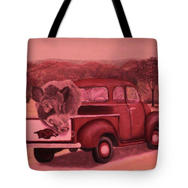 Ridin' With Razorbacks 3 Tote Bag by Belinda Nagy