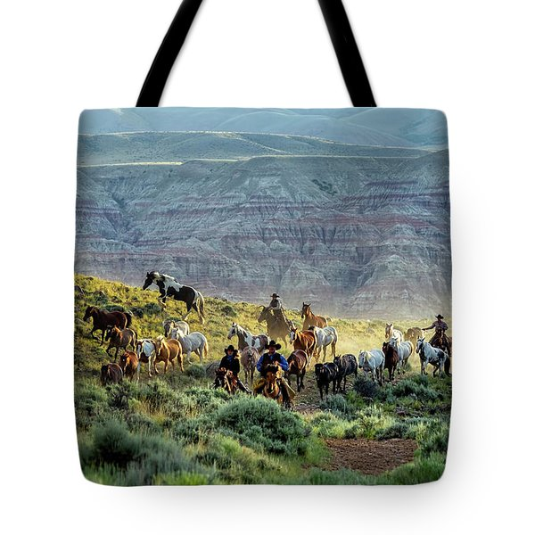 Riding Out Of The Sunrise Tote Bag