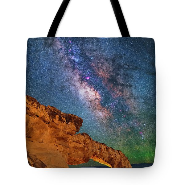 Riding Over The Arch Tote Bag
