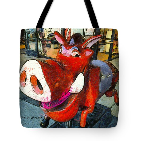 Tote Bag featuring the photograph Riding Pig Of Pismo Beach by Floyd Snyder