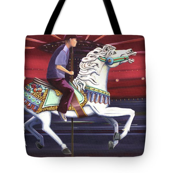 Riding The Carousel Tote Bag