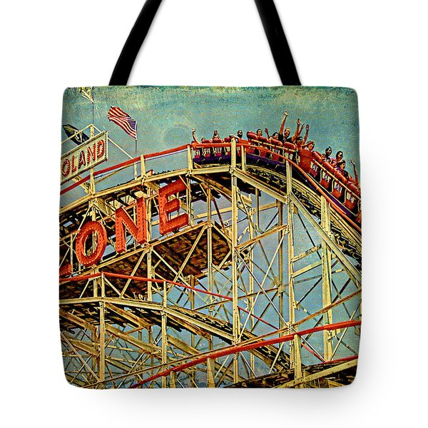 Riding The Cyclone Tote Bag