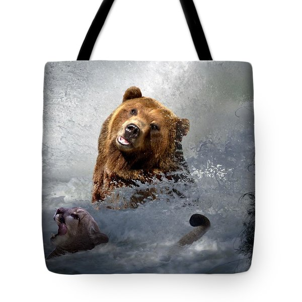 Riding The Gauntlet Tote Bag by Bill Stephens
