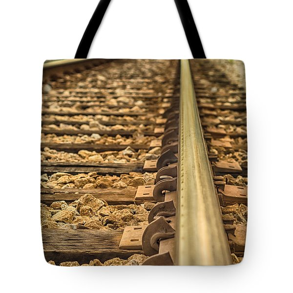 Riding The Rails Tote Bag by Brian Wright
