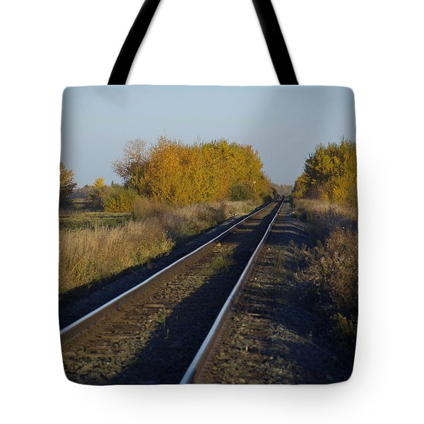 Riding The Rails Tote Bag by Ellery Russell