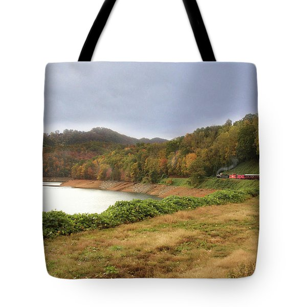 Riding The Rails Tote Bag by Sharon Batdorf