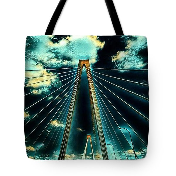 Riding The Ravenel Tote Bag
