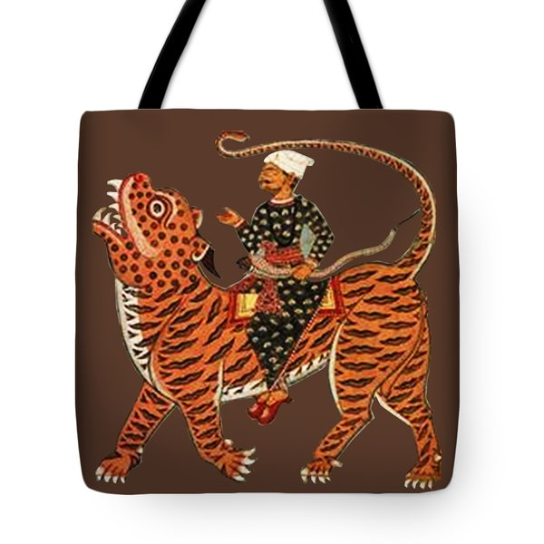 Riding The Tiger Tote Bag