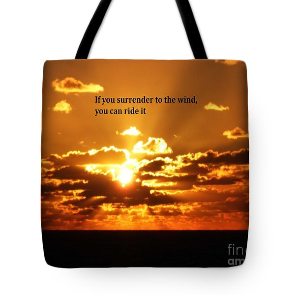 Riding The Wind Tote Bag by Gary Wonning