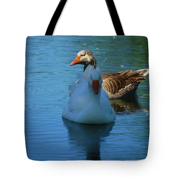 Tote Bag featuring the photograph Right Behind You Babe by Ramona Whiteaker