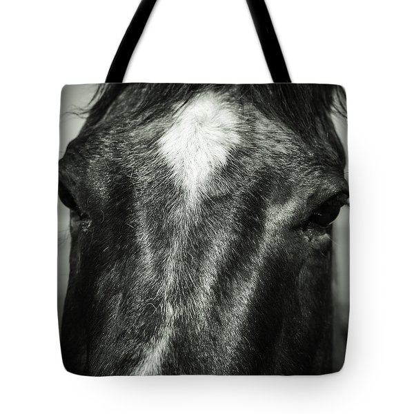 Right Between The Eyes Tote Bag