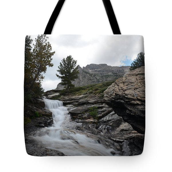 Right Fork Waterfall Tote Bag by Jenessa Rahn