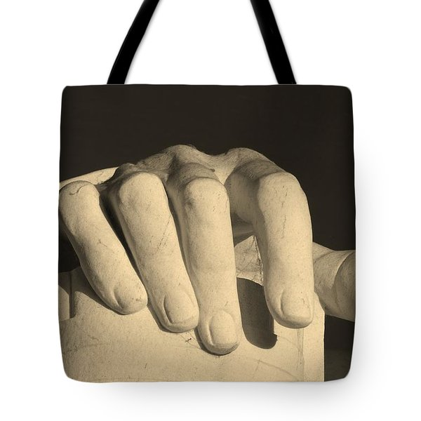 Right Hand Of The Man Tote Bag