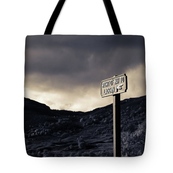 Right Of Way To Laggan Tote Bag