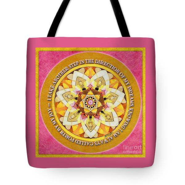 Right Path Mandala Prayer Tote Bag