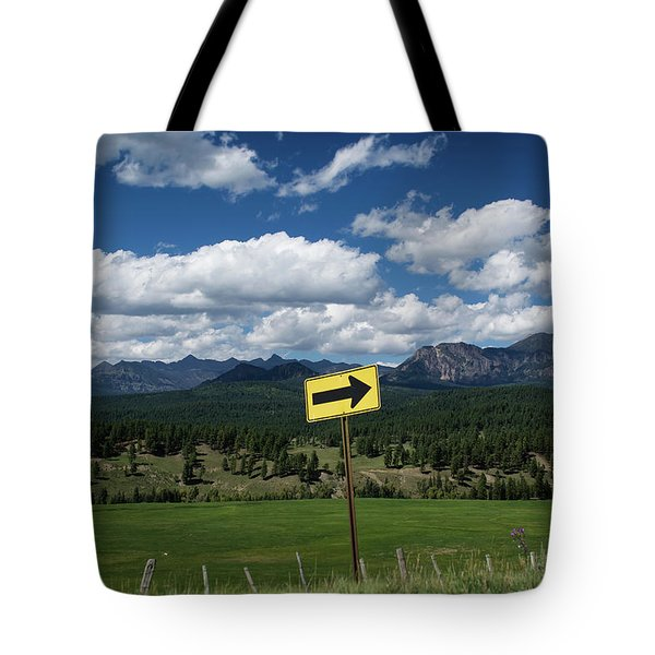 Right This Way Tote Bag