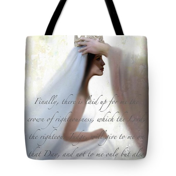Righteous Crown With Scripture Tote Bag