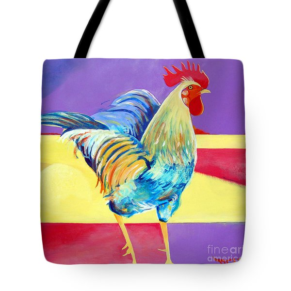 Riley The Rooster Tote Bag by Christine Belt