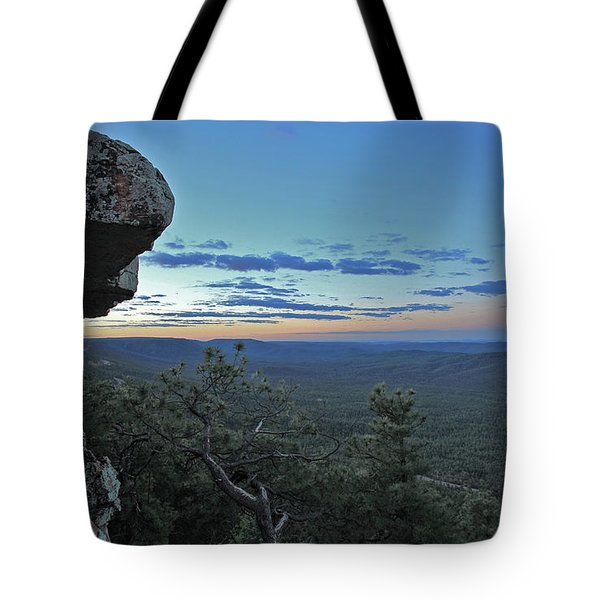 Tote Bag featuring the photograph Rim Daybreak by Gary Kaylor