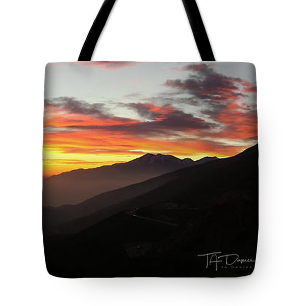Tote Bag featuring the photograph Rim Of The World by T A Davies