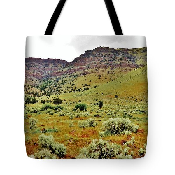 Rim Rock And Sage Brush Tote Bag by Michele Penner