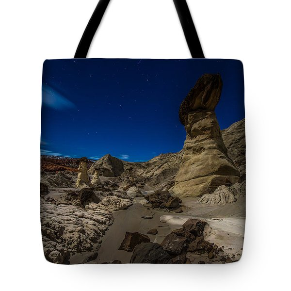 Rim Rock Toadstools Grand Staircase National Monument  Tote Bag
