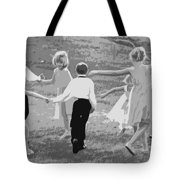 Ring Around The Rosy Tote Bag by Colleen Coccia