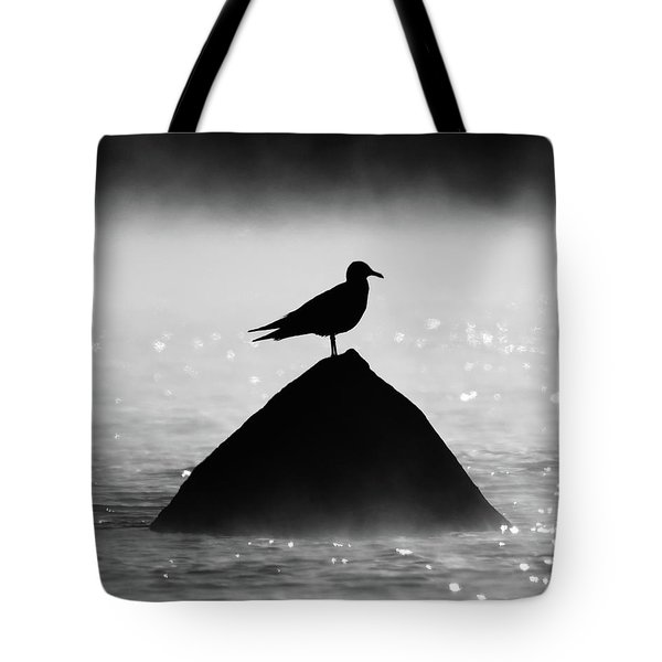 Ring-billed Gull Silhouette Tote Bag