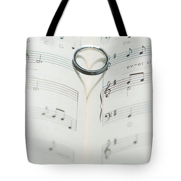 Ring Heart Shadow II Tote Bag