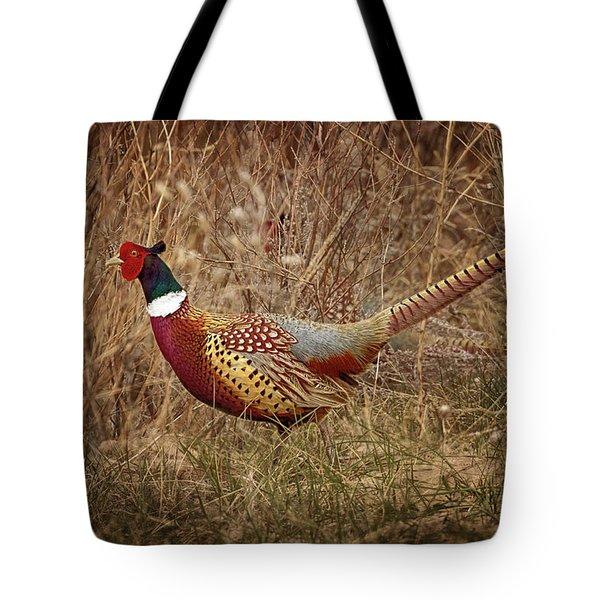 Ring Necked Pheasant Tote Bag