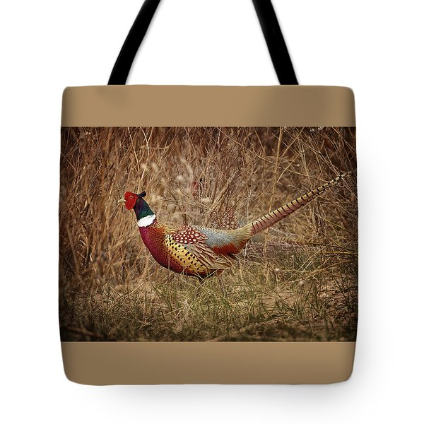 Ring Necked Pheasant Tote Bag