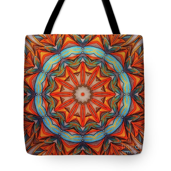 Tote Bag featuring the drawing Ring Of Fire by Mo T