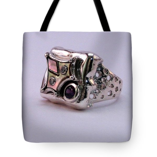 Tote Bag featuring the jewelry Ring Owl by Mikhail Savchenko