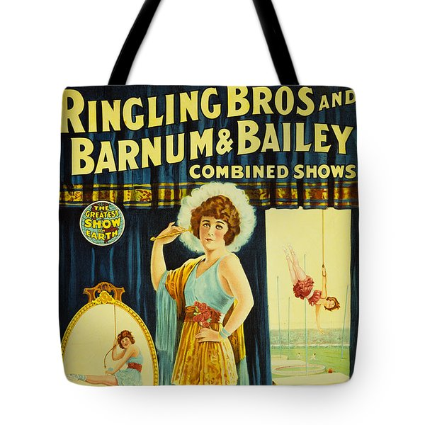 Ringling Bros And Barnum And Bailey Circus Poster Tote Bag by MMG Archives